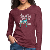 Show Lamb Southwest Indian Design-Jesus Saved & Barn Raised - heather burgundy