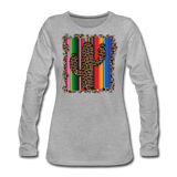 Boho Cactus Cheetah Serape Show Shirt - heather gray