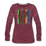 Boho Cactus Cheetah Serape Show Shirt - heather burgundy
