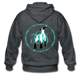 Show Lamb With Monogram Initials-Back Hoodie - deep heather