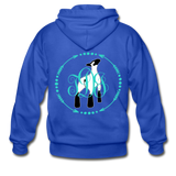 Show Lamb With Monogram Initials-Back Hoodie - royal blue