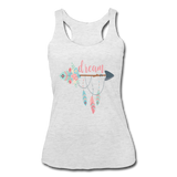 Dream Boho Arrow & Feathers & Flowers Racerback Tank - heather white