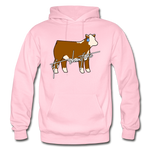 It's Showtime Show Hereford Steer Hoodie - light pink