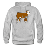 It's Showtime Show Hereford Steer Hoodie - heather gray