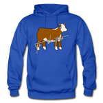 It's Showtime Show Hereford Steer Hoodie - royal blue