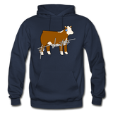 It's Showtime Show Hereford Steer Hoodie - navy