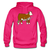 It's Showtime Show Hereford Steer Hoodie - fuchsia
