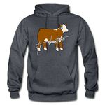 It's Showtime Show Hereford Steer Hoodie - charcoal gray