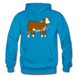 It's Showtime Show Hereford Steer Hoodie - turquoise