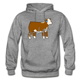 It's Showtime Show Hereford Steer Hoodie - graphite heather