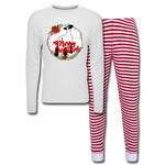 Show Lamb Sheep Unisex Pajama Set - white/red stripe