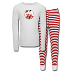 Show Lamb Sheep Kids' Pajama Set - white/red stripe
