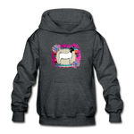 Serape Show Goat Youth Kids Hoodie - deep heather
