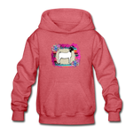 Serape Show Goat Youth Kids Hoodie - heather red