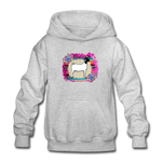 Serape Show Goat Youth Kids Hoodie - heather gray