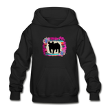 Serape Succulent Show Pig Youth Kids Hoodie - black