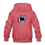 Serape Succulent Show Pig Youth Kids Hoodie - heather red