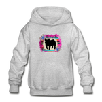 Serape Succulent Show Pig Youth Kids Hoodie - heather gray