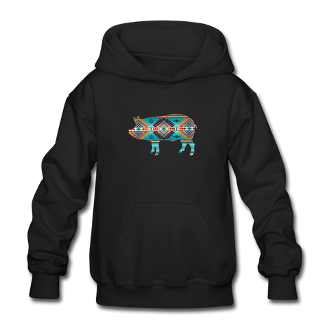 Southwest Show Pig Youth Hoodie - black