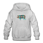 Southwest Show Pig Youth Hoodie - heather gray
