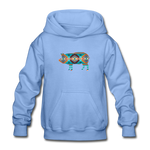 Southwest Show Pig Youth Hoodie - carolina blue