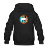 Serape Circle Show Goat Design Youth Hoodie - black
