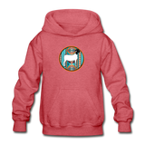 Serape Circle Show Goat Design Youth Hoodie - heather red