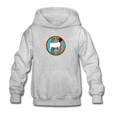 Serape Circle Show Goat Design Youth Hoodie - heather gray