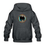 Show Pig Serape Circle Design Youth Hoodie - deep heather