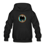 Show Pig Serape Circle Design Youth Hoodie - black