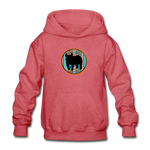 Show Pig Serape Circle Design Youth Hoodie - heather red