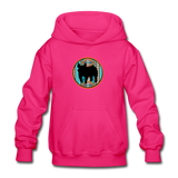 Show Pig Serape Circle Design Youth Hoodie - fuchsia