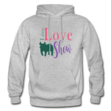 Live Love Show Livestock Show Pig Hoodie - heather gray