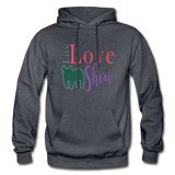 Live Love Show Livestock Show Pig Hoodie - charcoal gray