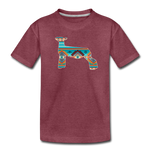 Southwest Indian Show Lamb Kids' Premium T-Shirt - heather burgundy