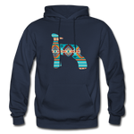 Southwest Indian Lamb Adult Hoodie - navy