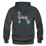 Southwest Indian Lamb Adult Hoodie - charcoal gray
