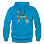 Southwest Indian Lamb Adult Hoodie - turquoise