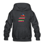 Serape Show Rabbit Gildan Heavy Blend Youth Hoodie | Livestock Show Bunny - deep heather