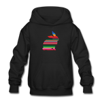 Serape Show Rabbit Gildan Heavy Blend Youth Hoodie | Livestock Show Bunny - black