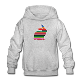 Serape Show Rabbit Gildan Heavy Blend Youth Hoodie | Livestock Show Bunny - heather gray