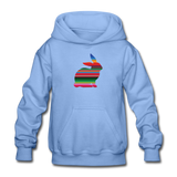 Serape Show Rabbit Gildan Heavy Blend Youth Hoodie | Livestock Show Bunny - carolina blue