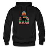 Adult Serape Cheetah Show Goat Hoodie | 4H Livestock Show Gift | Ear Tag Show Goat - black
