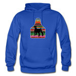 Adult Serape Cheetah Show Goat Hoodie | 4H Livestock Show Gift | Ear Tag Show Goat - royal blue