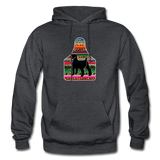 Adult Serape Cheetah Show Goat Hoodie | 4H Livestock Show Gift | Ear Tag Show Goat - charcoal gray