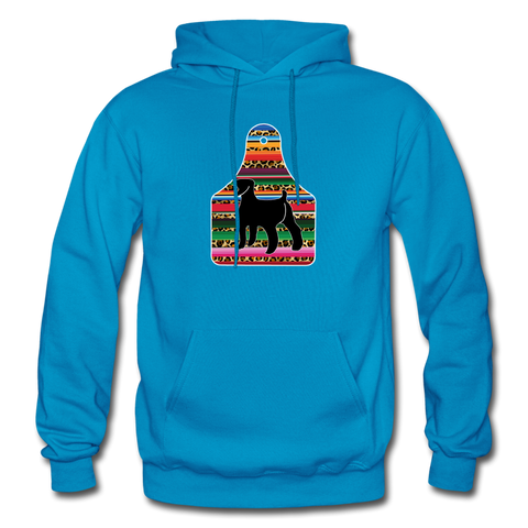 Adult Serape Cheetah Show Goat Hoodie | 4H Livestock Show Gift | Ear Tag Show Goat - turquoise