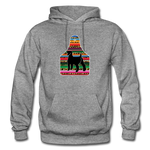 Adult Serape Cheetah Show Goat Hoodie | 4H Livestock Show Gift | Ear Tag Show Goat - graphite heather