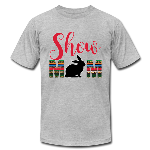 Show Mom Show Rabbit, Livestock Show Bunny, 4H Mom, Serape Cheetah Print, Southwest Boho - heather gray