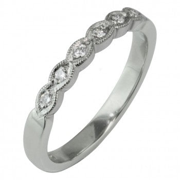 Scalloped Diamond Ring from London Victorian Ring Co