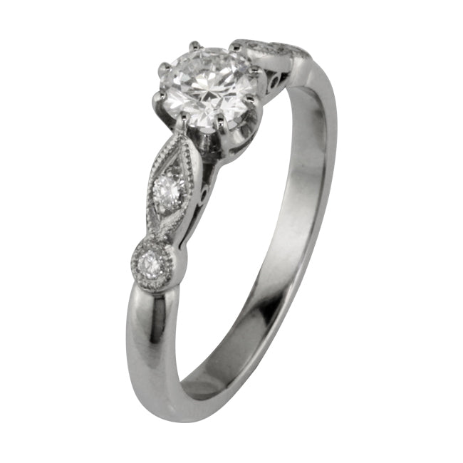 Engagement ring in the Edwardian style